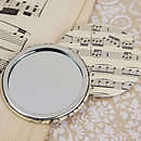 Music Score Sheet Compact Mirror