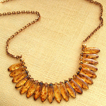 Amber Collar Statement Necklace