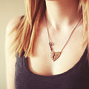 Hammered Broken Heart Necklace