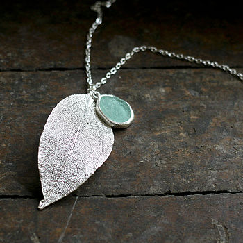 Maria Leaf Drop Pendant Necklace