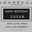 Personalised Food Lovers Prosecco Gift Box