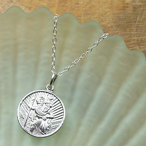 Personalised Child's St Christopher Necklace - christening gifts