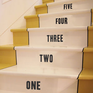 Stair Number Stickers - wall stickers