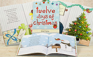 Personalised 12 Days Of Christmas Book - books