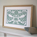 Lake Green colour in Oak Frame