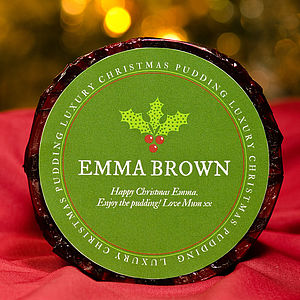 Personalised Christmas Pudding - food gifts