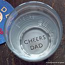 'Cheers Dad' Etched Pint Glass