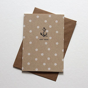 'Ahoy There' Nautical Notelet