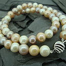 Freshwater Pearl Necklace (Toffee Browns)