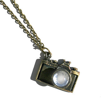 Vintage Style Camera Charm Necklace