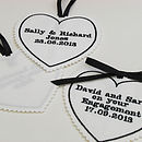 Embroidered Personalised Heart Tag
