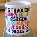 Personalised Favourites Brights Ceramic Mug