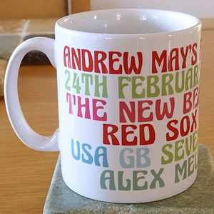 Personalised Favourites Orchard Ceramic Mug