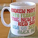 """Reds and greens"" colour option mug"