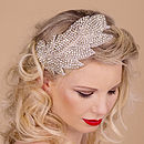 Leaf Beaded Rhinestone Hairband