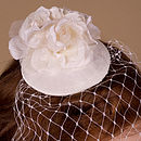 Vintage Inspired Three Rose Bridal Fascinator