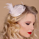 Feather And Pearl Bridal Fascinator