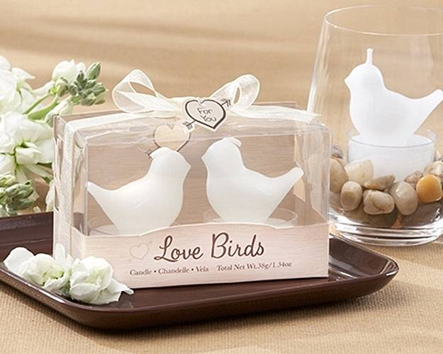'Love Birds' Tea Light Candles
