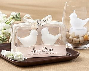 'Love Birds' Tea Light Candles - wedding favours