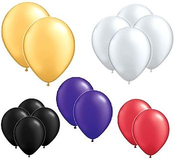 Pack Of 10 Or 100 Metallic Balloons