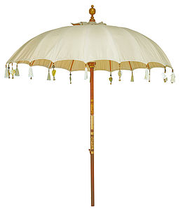 Cream Pearl Garden Umbrella - parasols & windbreaks