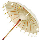 Cream Pearl Garden Umbrella