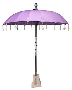 Lilac Rose Garden Sun Umbrella - parasols & windbreaks