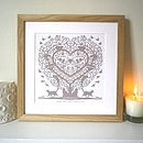 Thumb personalised cats in a treeheart print