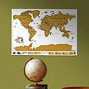 Large World Scratch Map