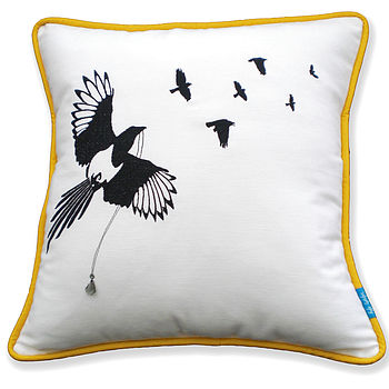 Flock Of Magpies Cushion