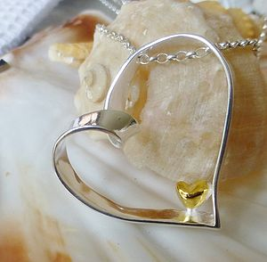 I Carry Your Heart Silver And Gold Necklace - necklaces & pendants