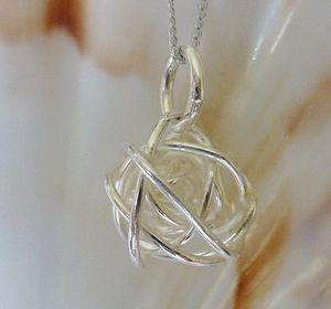 Bound Sphere Silver Pendant And Chain - jewellery for her