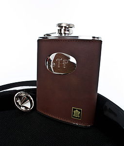 Leather Personalised Hip Flask - gifts for colleagues