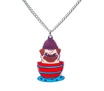 Teacup Pug Necklace