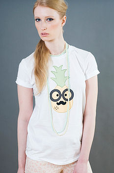 Pineapple Applique T Shirt