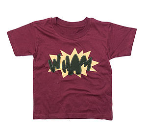 Boy's Comic Book Inspired 'Wham' T Shirt
