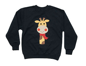 Girl's Giraffe Applique Sweater