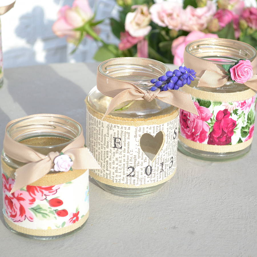 rose jam jar candle holder by abigail bryans designs ...