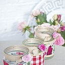 Claret Rose Recycled Jam Jar Light