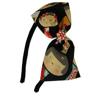 Japanese Kokeshi Doll Style Headband - hair accessories
