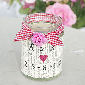 Personalised Party Light - votives & tea light holders