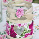 Thumb claret rose rcycled jam jar light