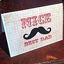 Moustache 'Best Dad' Father's Day Card