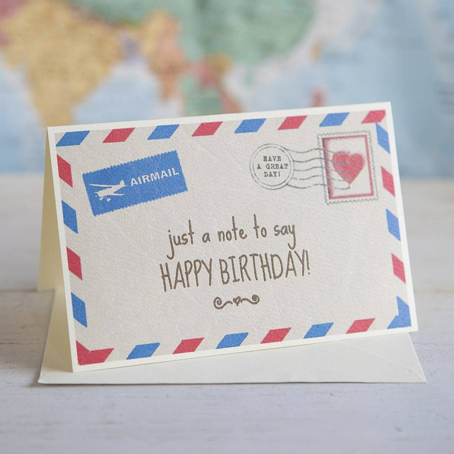 Personalised Vintage Style Airmail Card