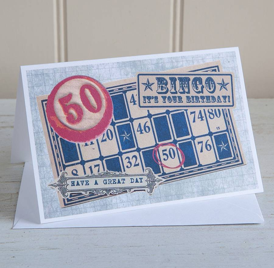Birthday Bingo 50 Card