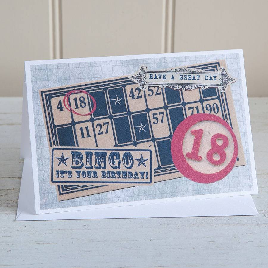 Birthday Bingo 18 Card