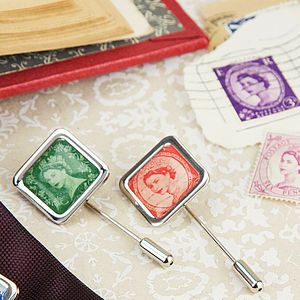 Stamp British Postage Stamp Tie Pin - personal accessories