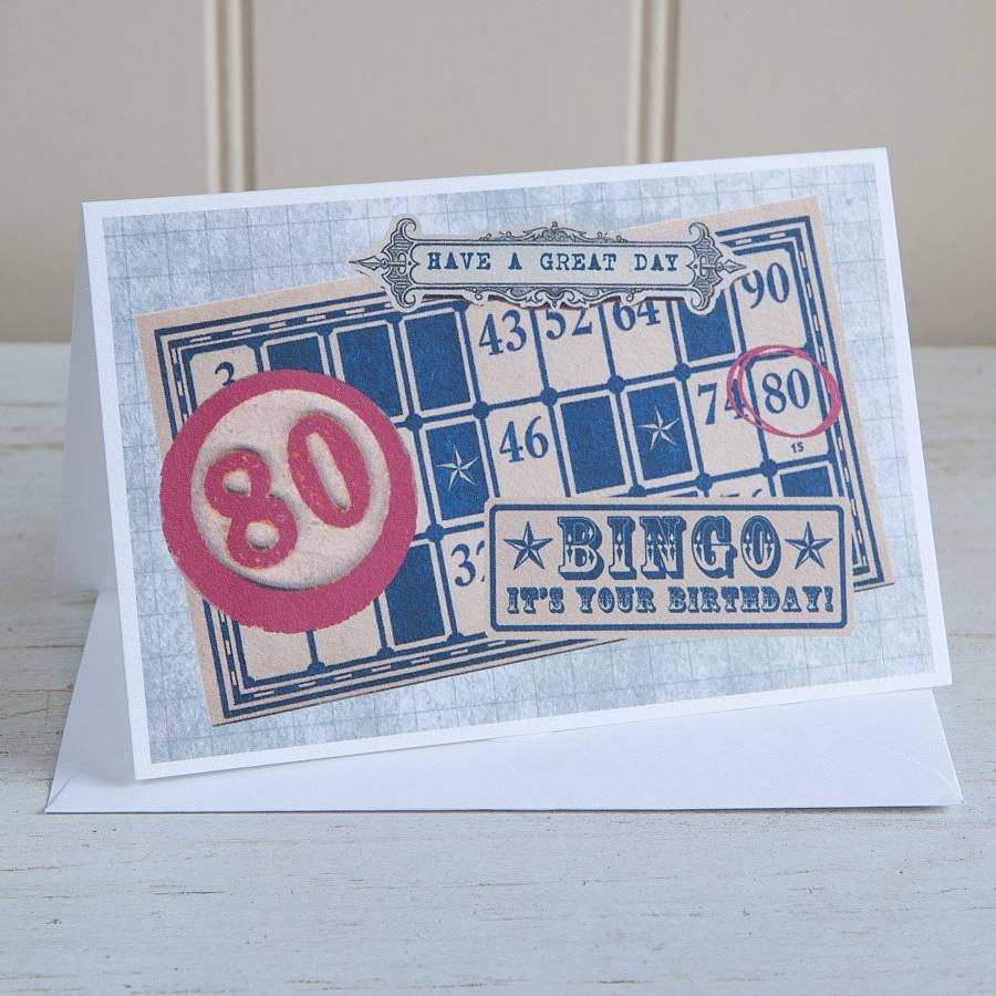 Birthday Bingo Age Greetings Card
