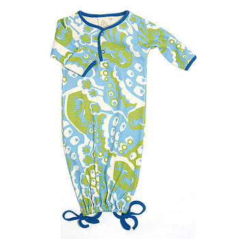 Newborn Farmland Print Gown
