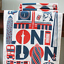 London Typographic Tea Towel
